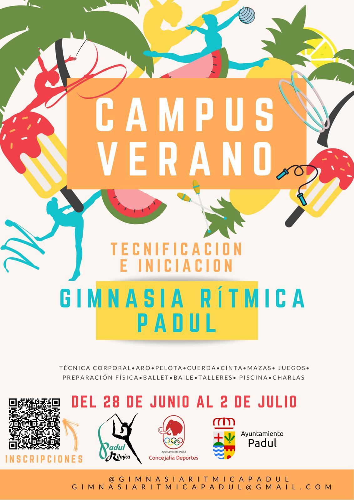 Campus de verano tecnificación e iniciación. Gimnasia Rítmica Padul