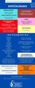 Escuela Comarcal de Música y Danza Valle de Lecrín. Especialidades