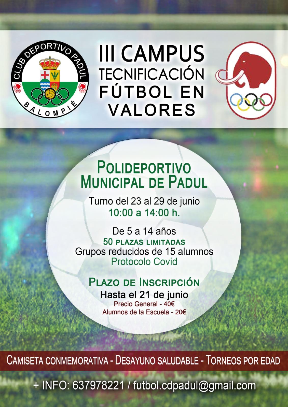 Tercer Campus Tecnificación fútbol en valores