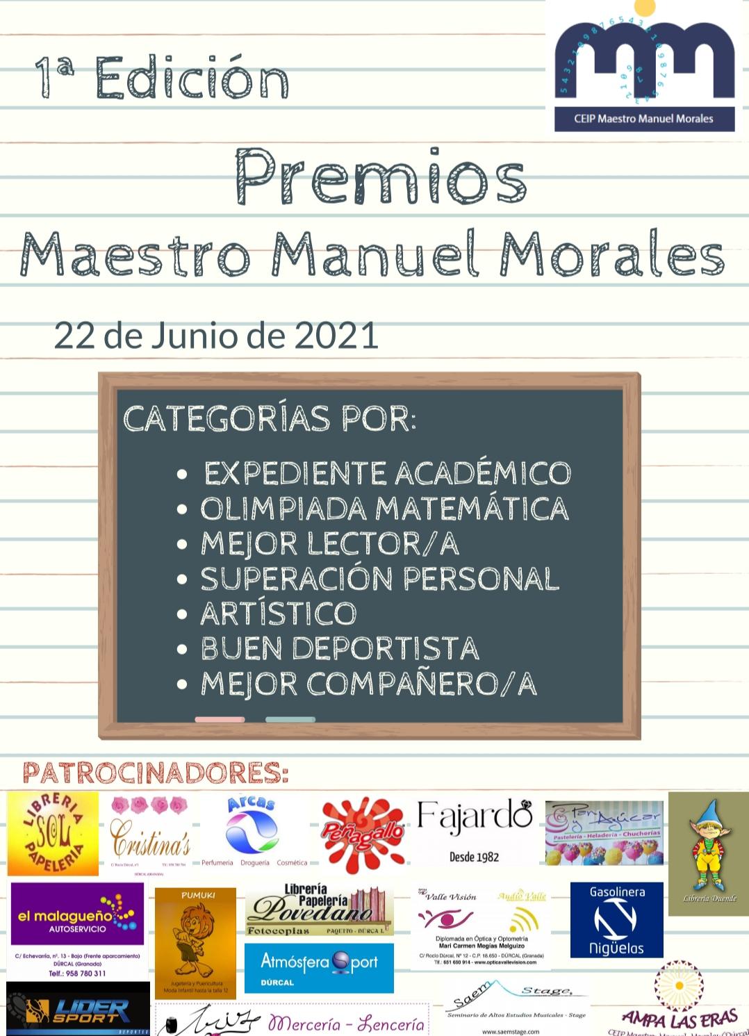 Primera edición premios Maestro Manuel Morales