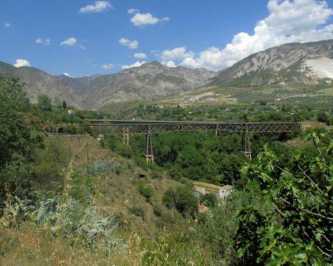 El puente de lata de Dúrcal, hace unos días / R. V.