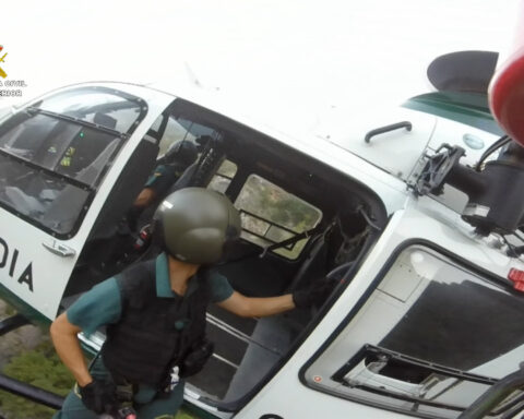 El SEREIM, en una intervención anterior en helicóptero.