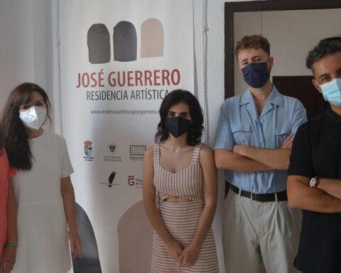 De izquierda a derecha, Marina Flores, Pilar Soto, Marta Iranzo, Carlos Entomo y Antonio Fernández